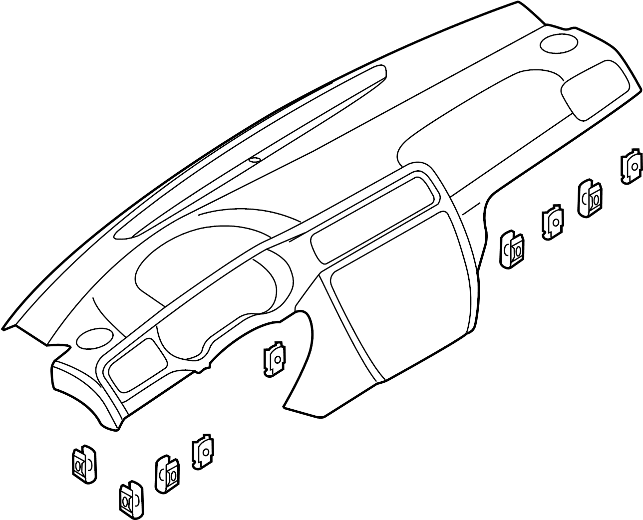 Volkswagen Jetta Dashboard Panel Instrument Make
