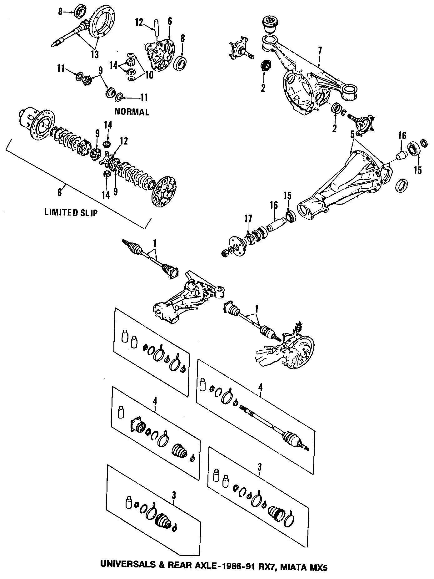 Mazda Miata Pinion Gear Differential Side 323