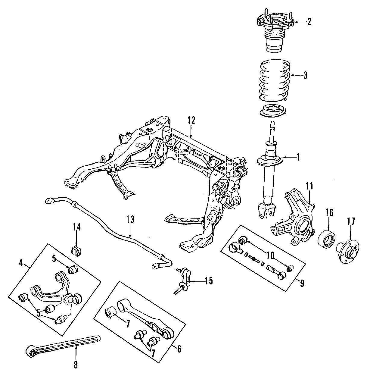 Mazda Rx 7 Suspension Stabilizer Bar Bushing Rear