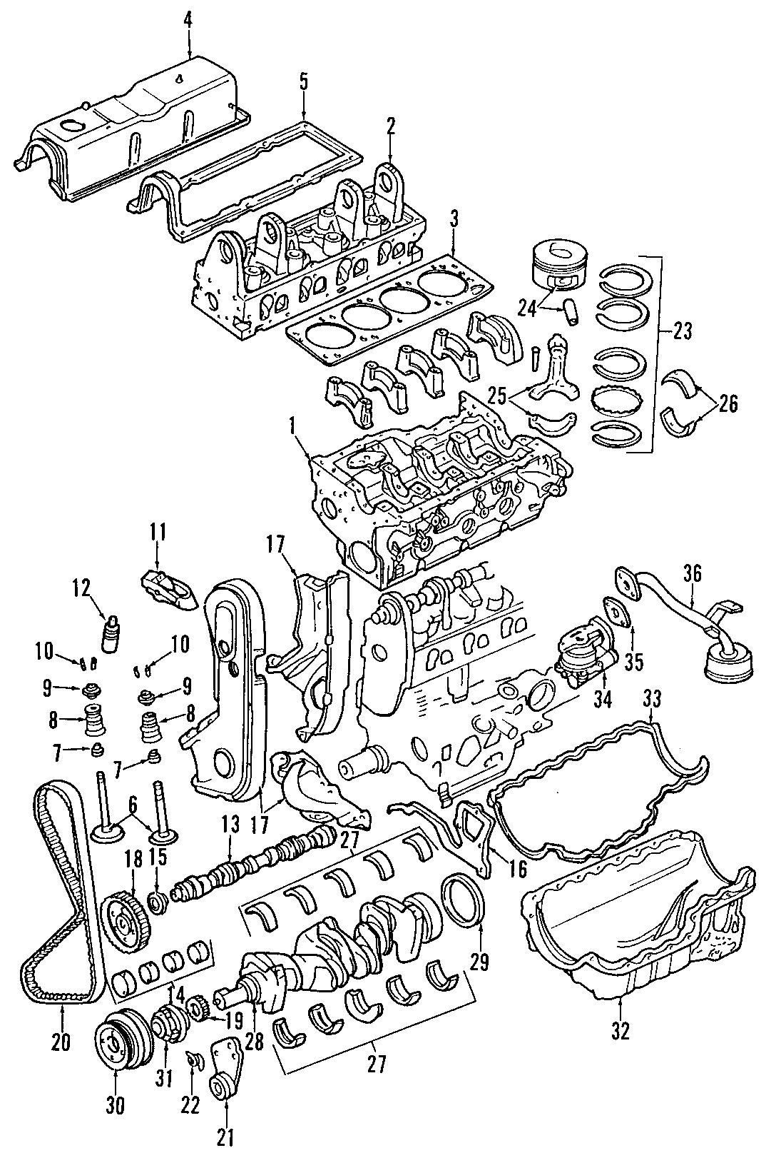 Mazda B Engine Timing Cover Gasket Front 2 3 Liter