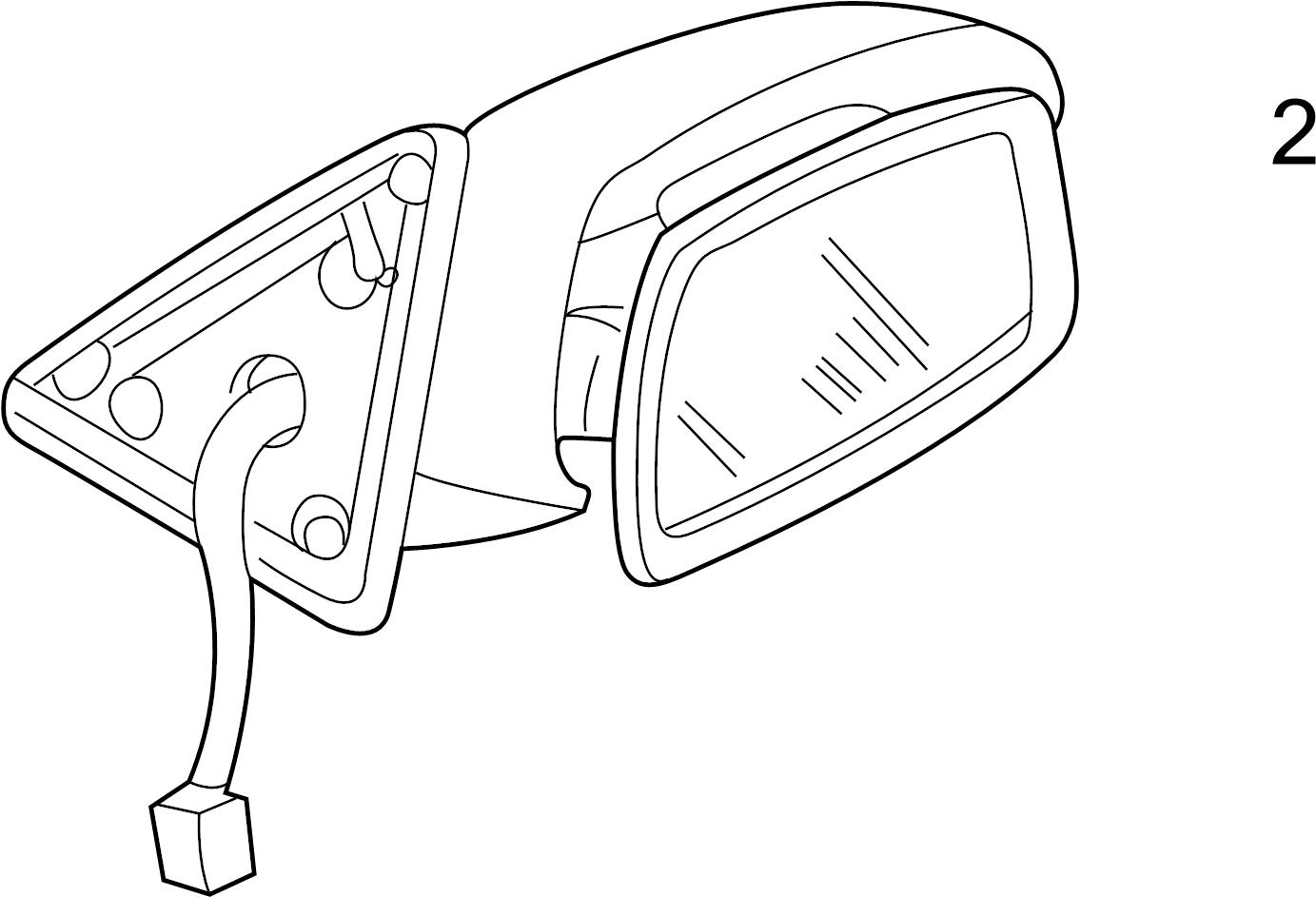 Mazda Protege Door Mirror Glass Power Mirror Power