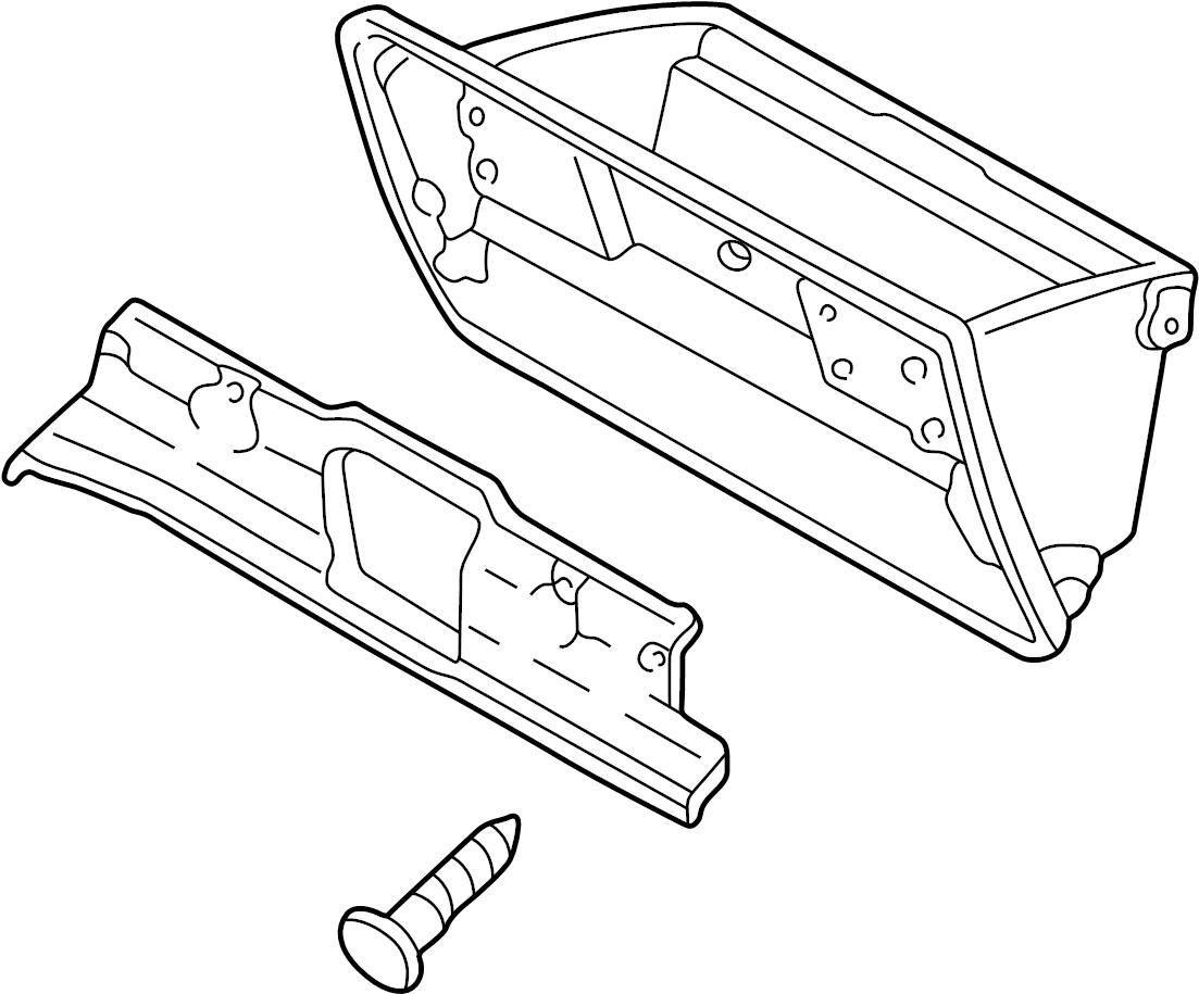 Mazda Mpv Glove Box Beige Panel Instrument Front Body
