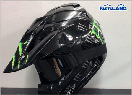 オフロード 軽量ヘルメット モンスターエナジー ゴーグル付き| ガレージオフ 八王子堀之内店