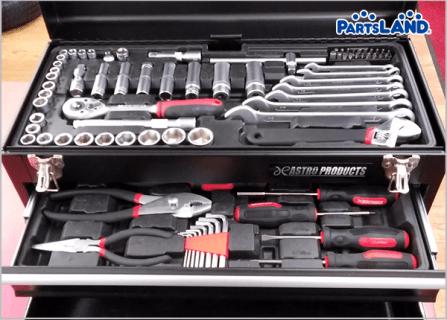 アストロプロダクツ ハンドツールセット 工具セット 2段 TS193| ガレージオフ 八王子堀之内店