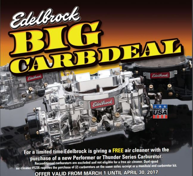 Edelbrock Big Carb Deal