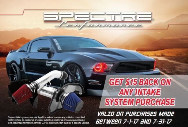 Spectre Performance: $15 Back on Any Intake System Purchase