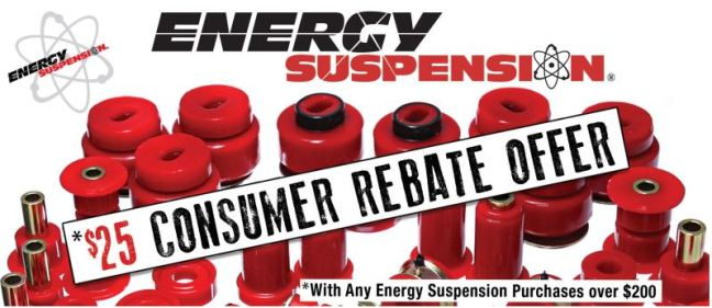 Energy Suspension 25 Dollar Consumer Rebate
