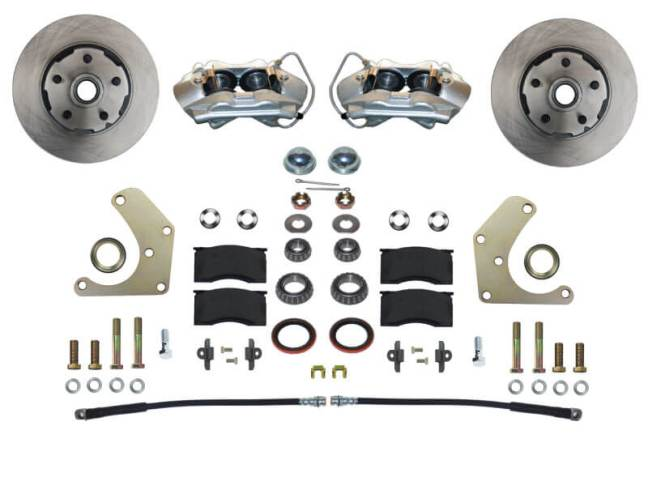 LEED Brakes Spindle Mount Front Disc Brake Conversion Kit for Mopar A-Body