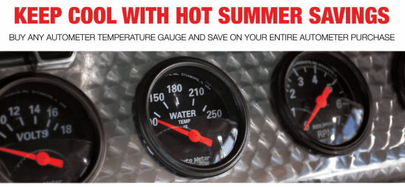 AutoMeter Cash Back on Temperature Gauges