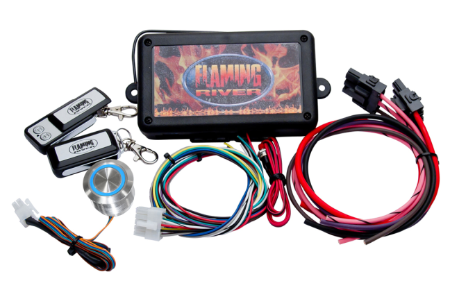 Flaming River (FR60004) Programmable RFID Keyless Ignition System Dash Mount