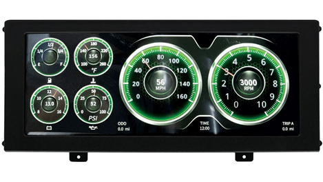 AutoMeter Products (7000): Universal Mount InVision Display