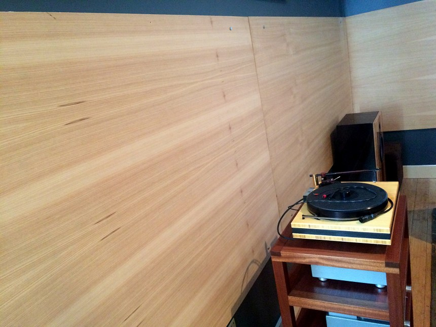 Douglas Fir and Cypress softwood room acoustic panels