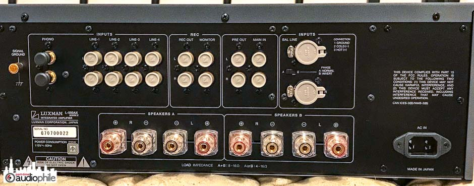 Luxman L-550AXII Integrated Amplifier Review | Part-Time