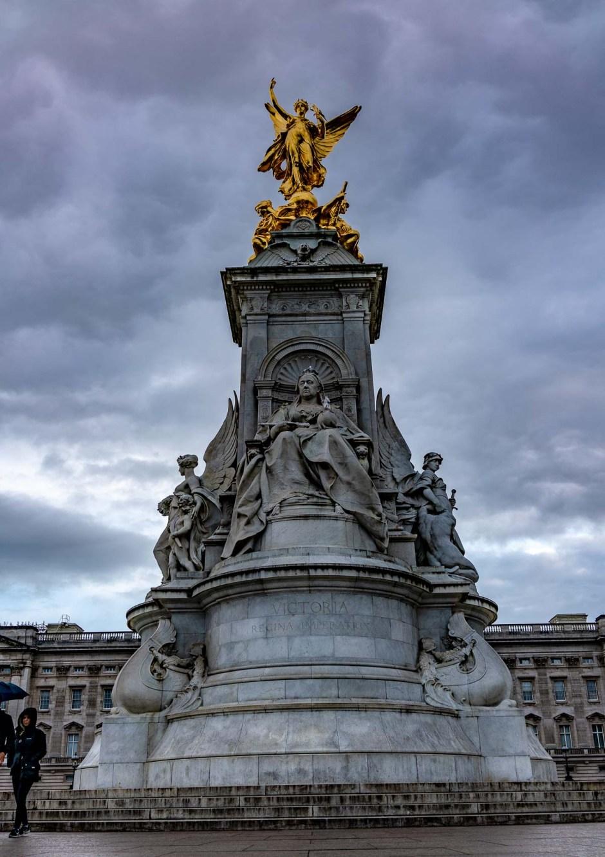 Victoria, outside Buckingham Palace