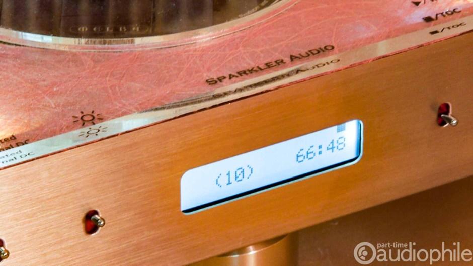 Closeup of the Sparkler Audio Spiral