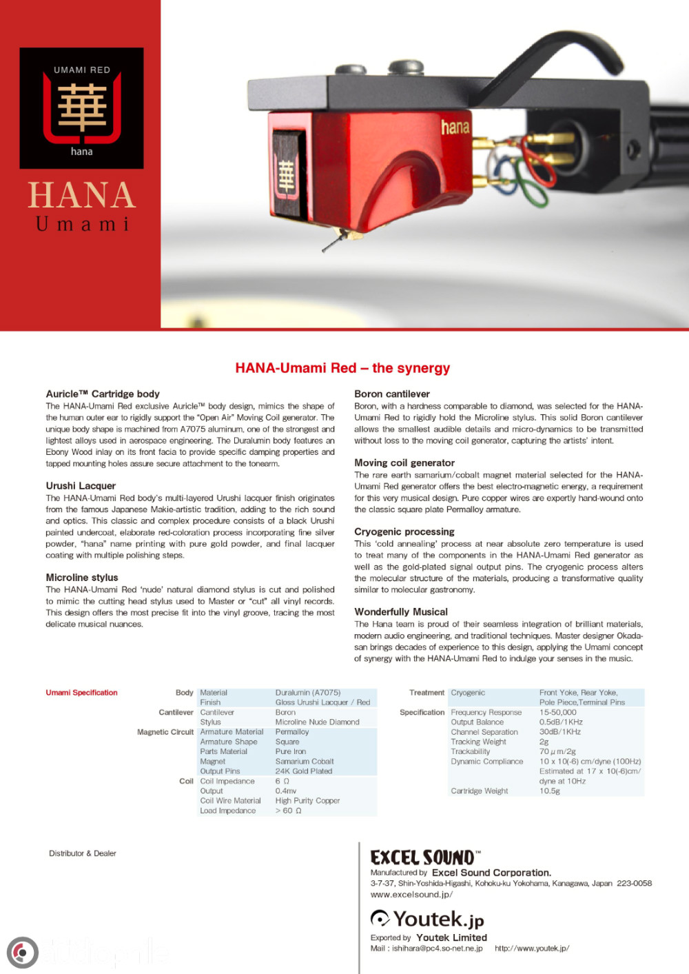 HANA Umami Red Moving Coil Cartridge | Part-Time Audiophile