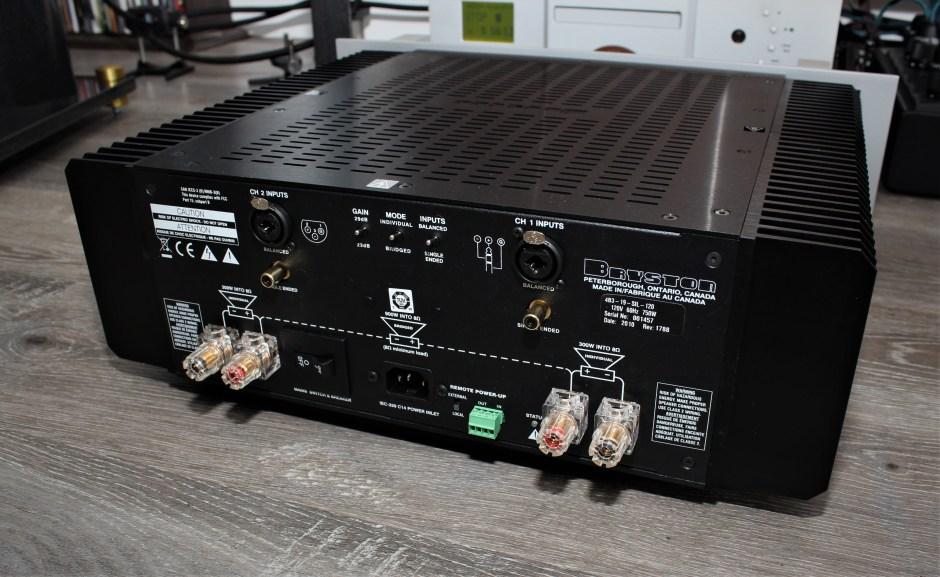 Bryston Audio 4B³ back panel.