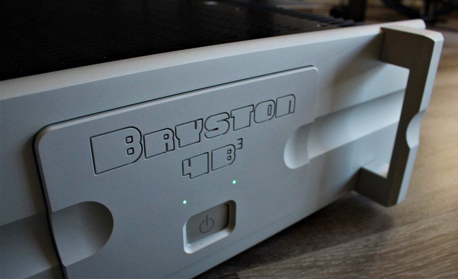 Front panel of the new Bryston power amp.