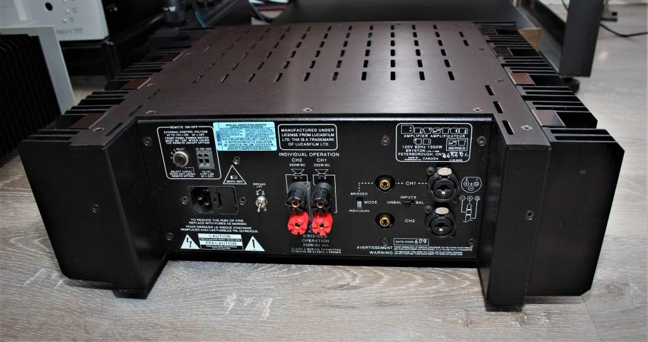 Original Bryston Audio 4B rear panel.