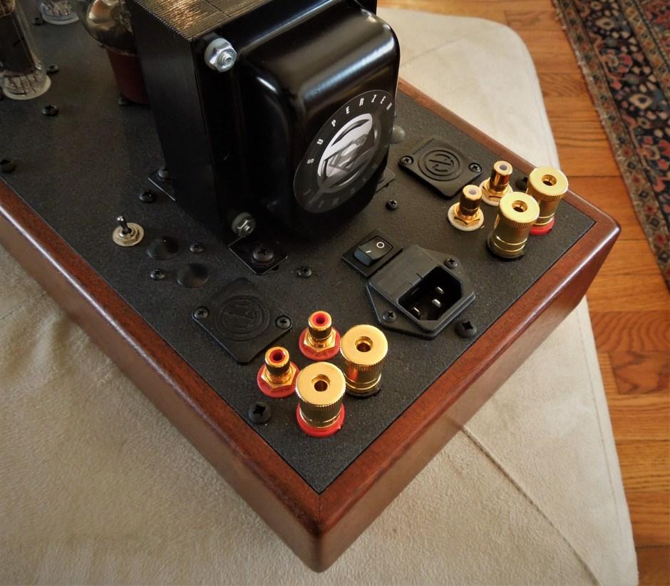 Back view of the Decware amplifier.