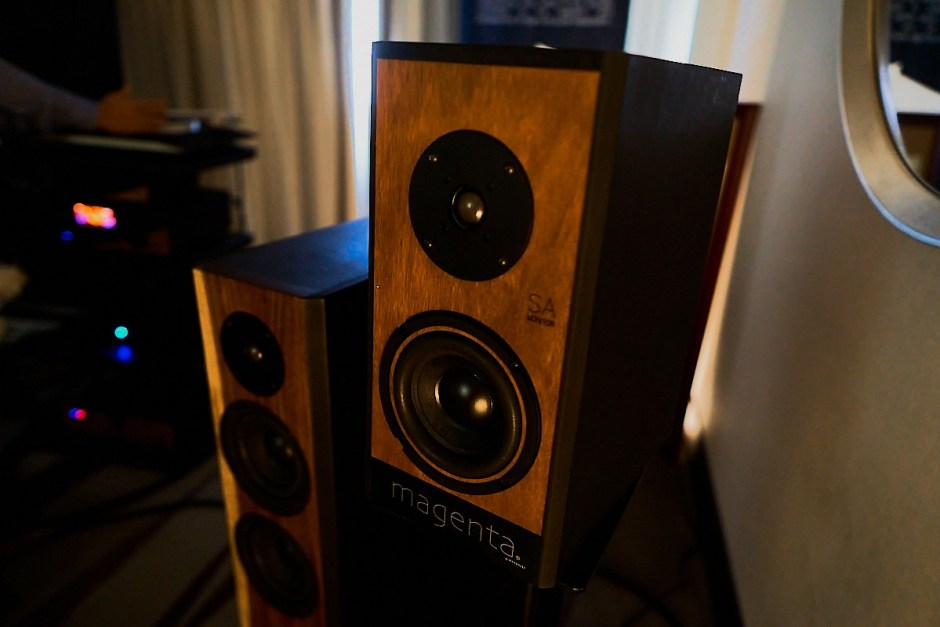 magenta speakers at t.h.e. show