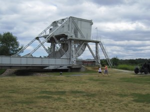The original Pegasus Bridge, since replaced