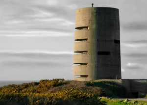 German watchtower on Guernsey, off the coast of France