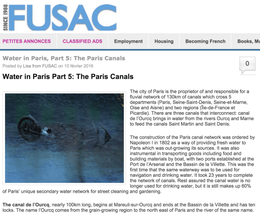 The FUSAC series on water