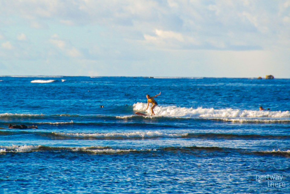 Surfing in Siargao, Philippines