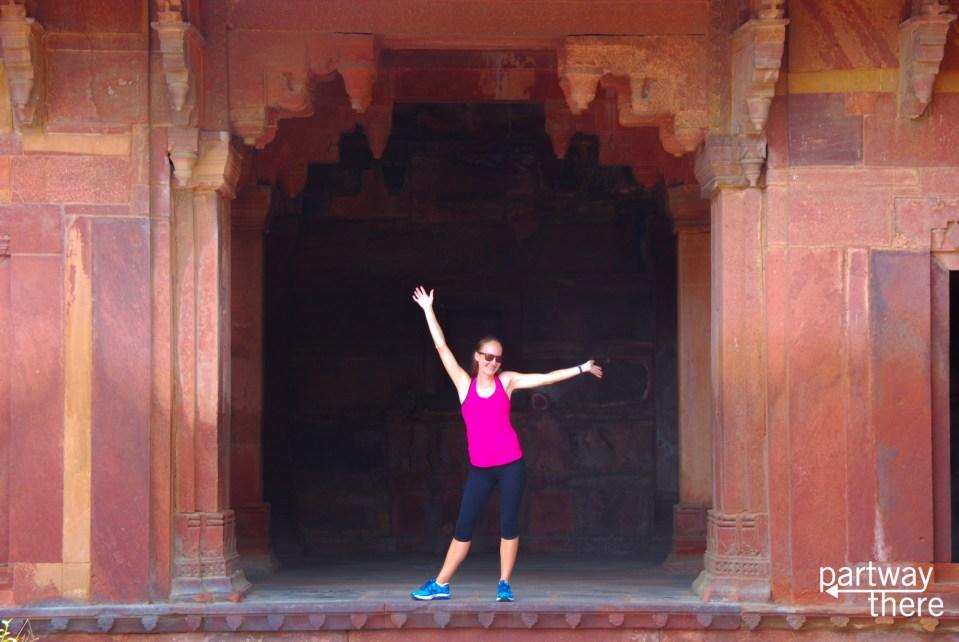 Amanda Plewes at Fatehpur Sikri