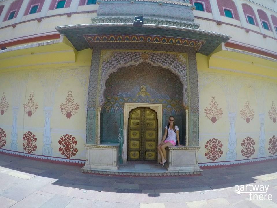 Amanda Plewes at Jaipur city palace