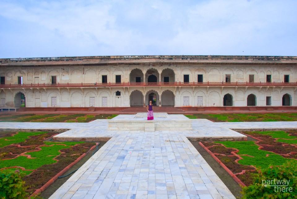 Amanda Plewes inside Agra Fort
