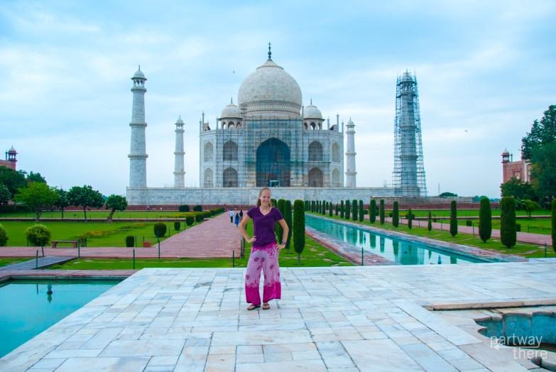 Amanda Plewes at the Taj Mahal