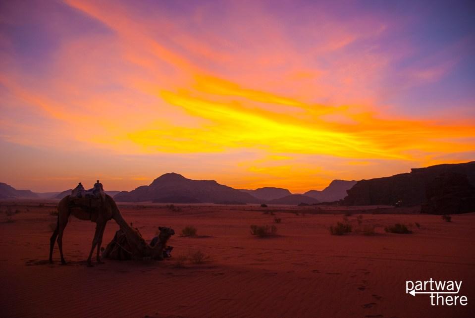 Wadi Rum sunrise.