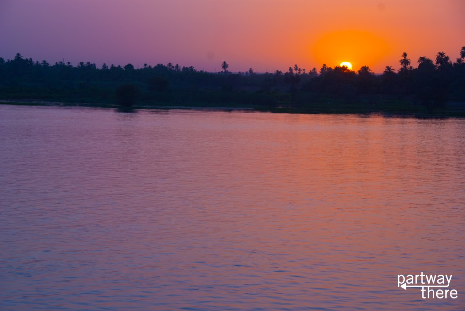 The Nile River at sunset