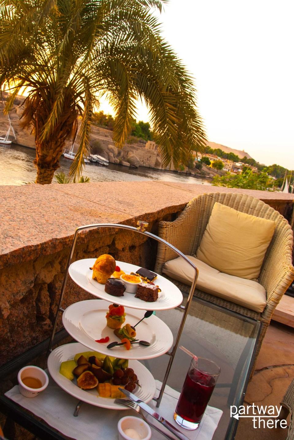 High Tea at the Old Cataract Hotel in Aswan, Egypt