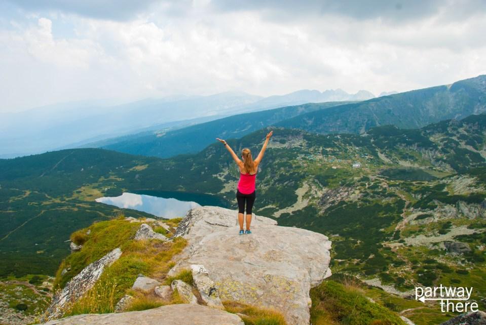 Amanda Plewes at Seven Rila Lakes in Bulgaria