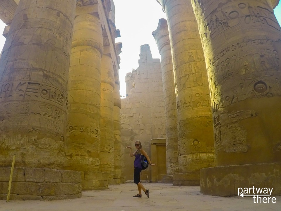 Amanda Plewes at Karnak Temple in Luxor