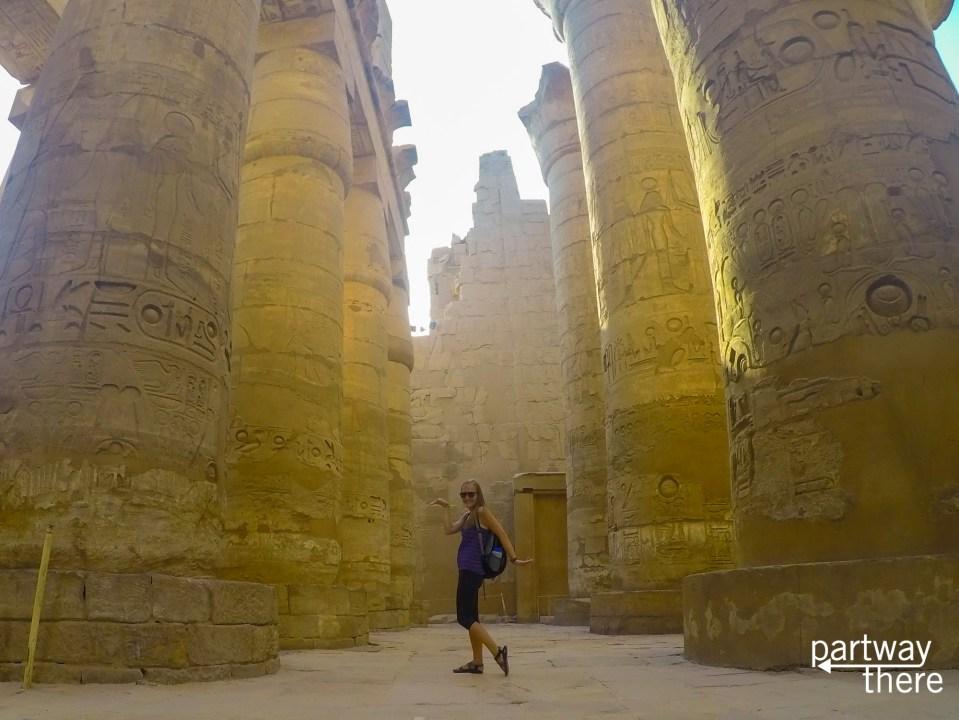 Amanda Plewes in Karnak Temple in Luxor, Egypt