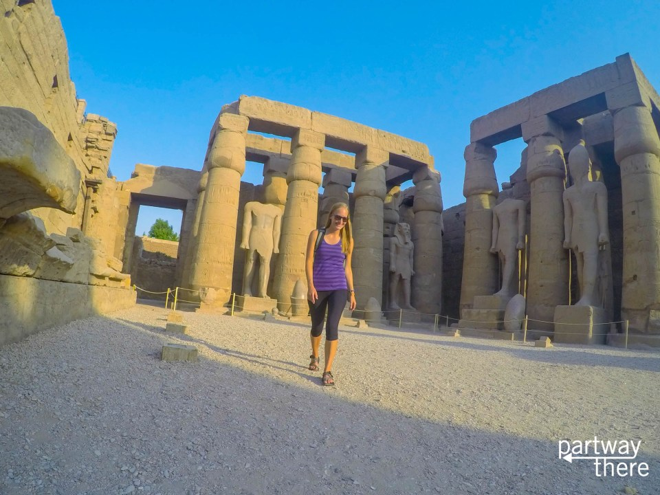 Amanda Plewes at Luxor Temple