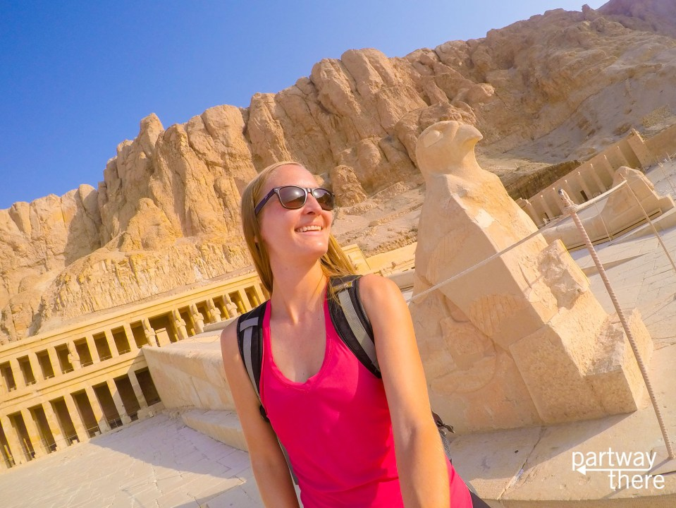 Amanda Plewes at Hatshepsut Temple