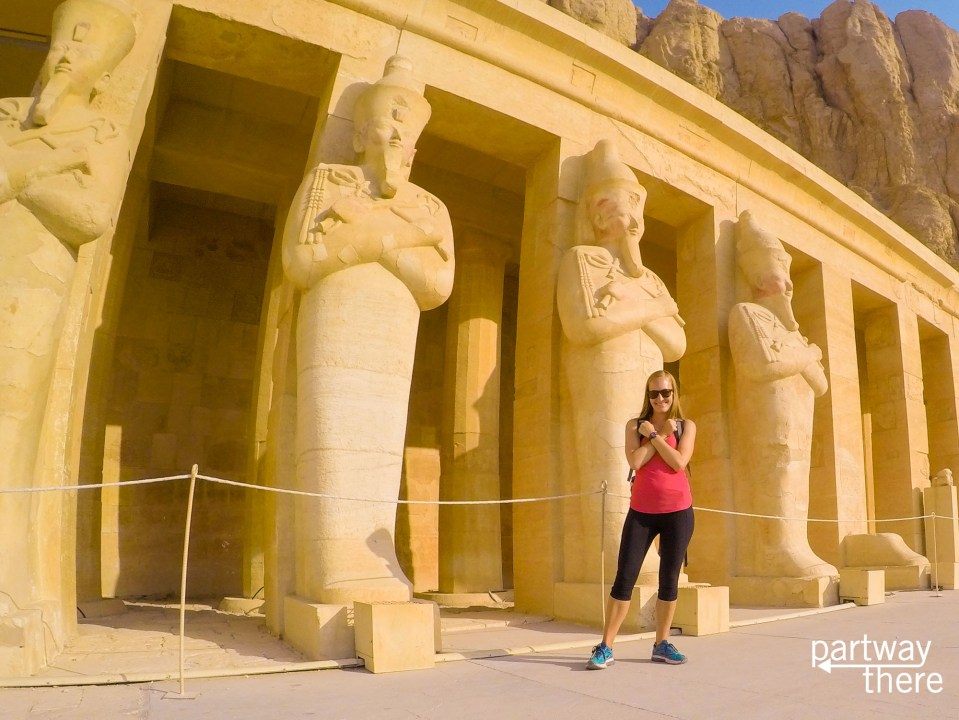 Amanda Plewes at Hatshepsut Temple in Luxor, Egypt