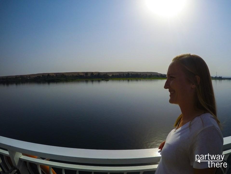 Amanda Plewes cruising the Nile
