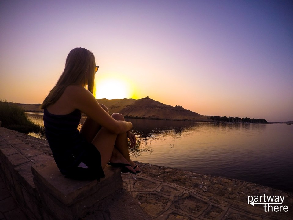 Sunset views from the Movenpick Aswan