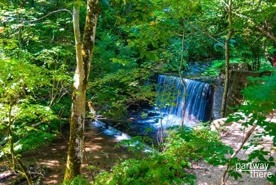 Waterfalls near Peles Castle