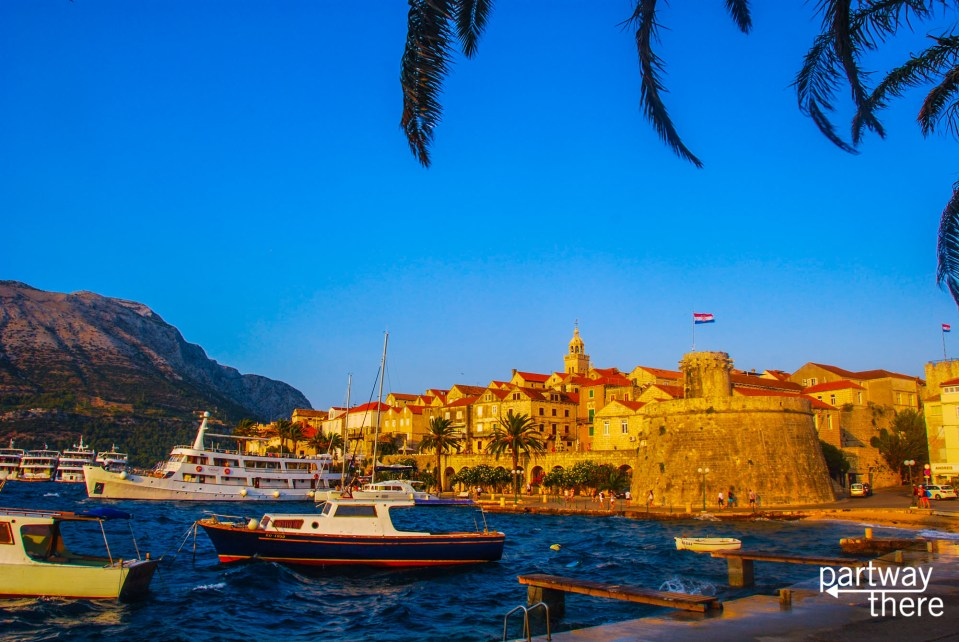 The harbor at Korcula
