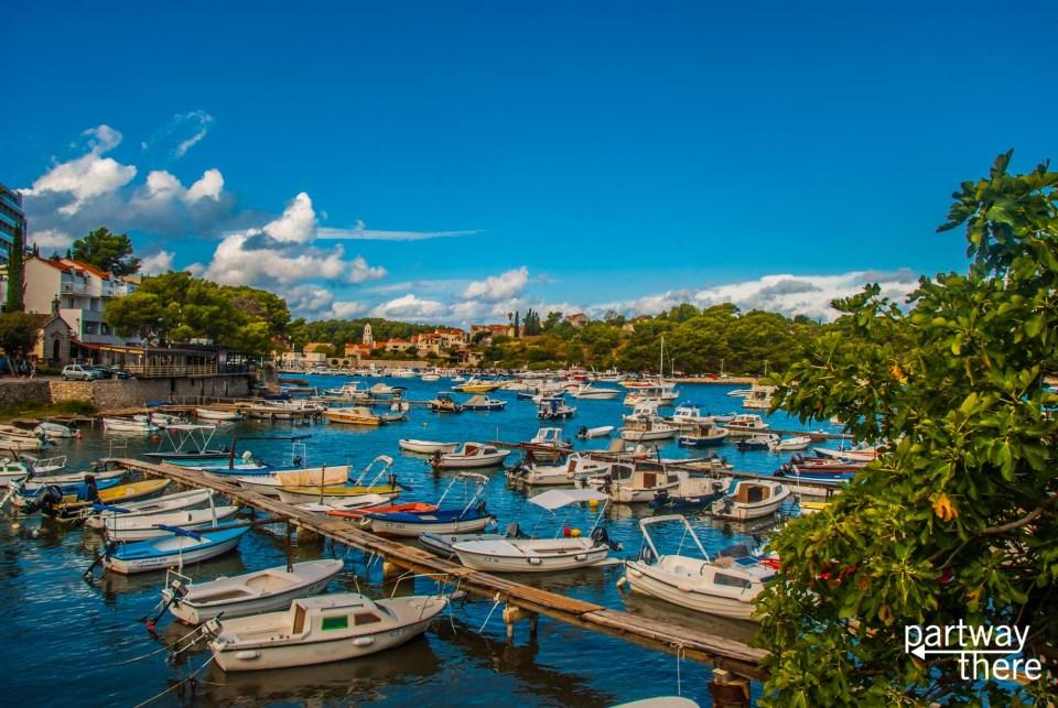 The harbor in Cavtat, Croatia