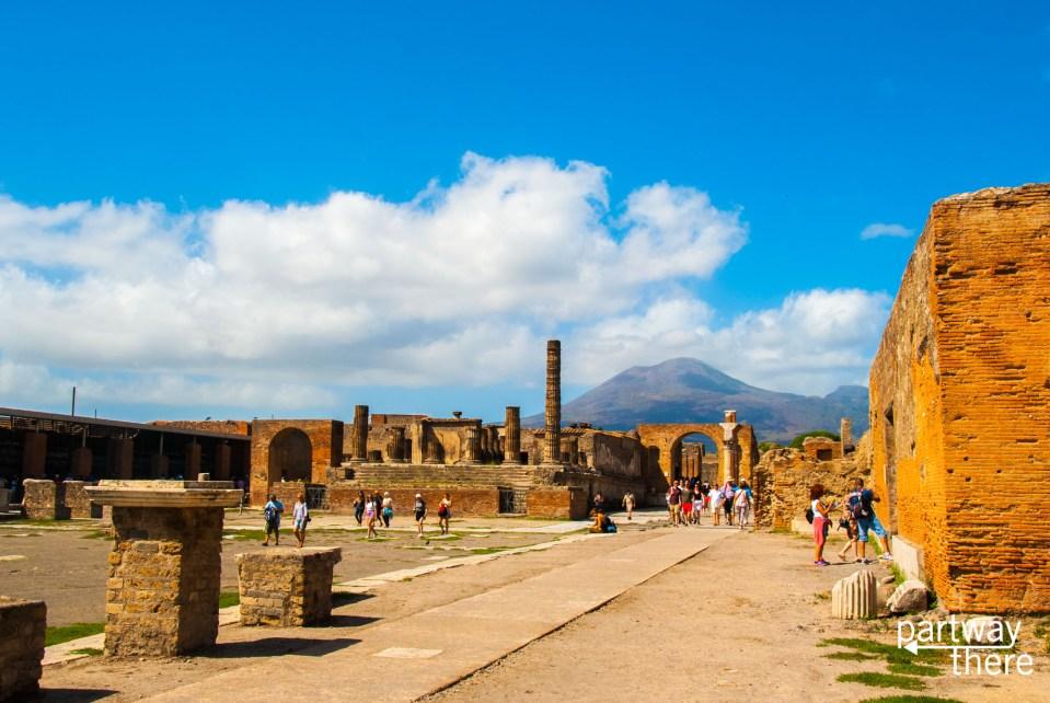 Mount Vesuvius over Pompeii