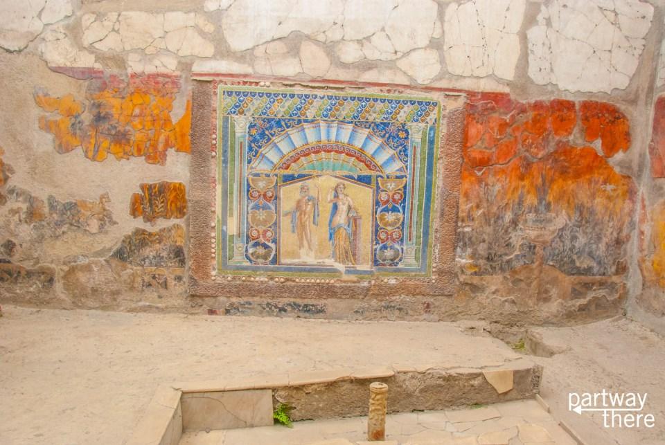A replica mosaic in Herculaneum