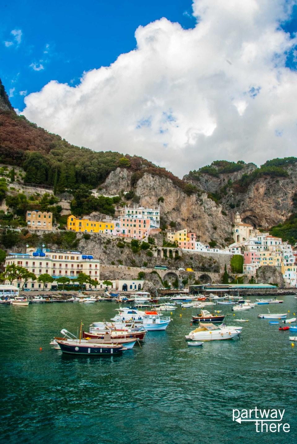 Photo of the town of Amalfi on the Amalfi Coast in Italy